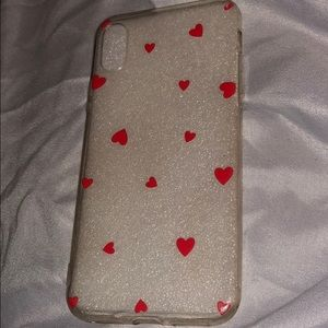 Hearts Plastic iPhone X Case